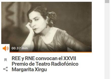 ¿Quieres ganar el Premio Margarita Xirgu de Teatro y ser estrenado en RNE?