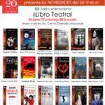 Ediciones Irreverentes presenta sus 20 años de éxitos teatrales en el XX Salón Internacional del Libro Teatral, 2019