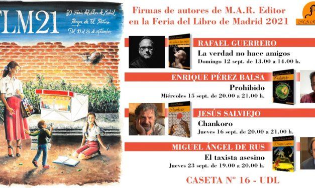 Autores de M.A.R. Editor en la Feria del Libro de Madrid 2021